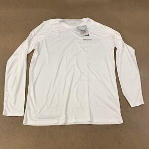 Baleaf-Men-039-s-Size-Large-White-Long-Sleeve-UPF-50-Athletic-T-Shirt-NWT