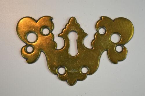 Original Georgian brass escutcheon plate key hole bureau chest of drawers RZ18