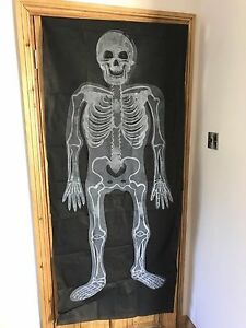 Halloween Skeleton Light Up Door Wall Curtain Fantastic Fun Party Decoration