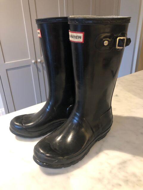 Hunter Rain BOOTS Kids Size US 4 Blue