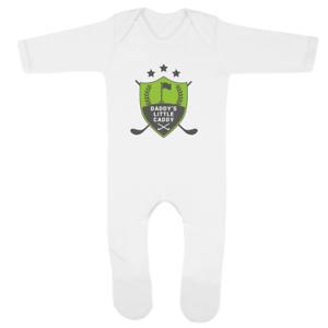 Daddy/'s Little Caddy 1 Baby Romper Funny Joke Golfing Dad New Baby Boy Gift