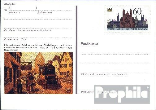 FRG (FR.Germany) PSo23 Official special postcards unused 2000 J. Speyer