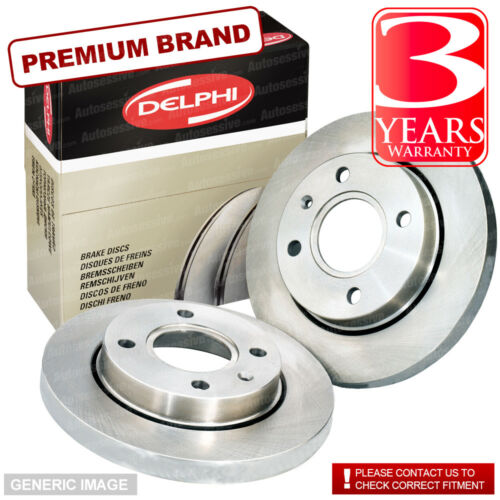 Rear Solid Brake Discs Toyota Corolla 2.0 D-4D Hatchback 2003-07 116HP 257.8mm
