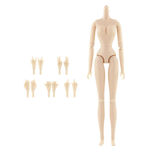 1//6 Movable Nude Doll Body Girl Doll DIY w// Hands For Doll House Girl Gifts