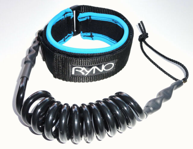 TUG Bodyboard basic White coil bicep leash 3 cuff sizes