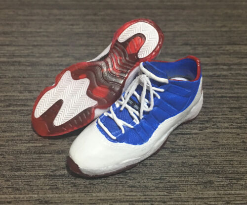1//6 Scale Custom Basket Ball Shoes AJ11 Low Captain  Compatible HT or EB Body