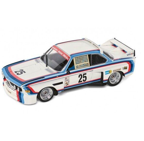 Original BMW M3.0 Csl Heritage Racing Colección Miniatura Coche Modelo 1 18