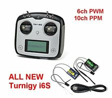 NEW Turnigy TGY-i6S 10ch PWM/PPM MultiRotor Transmitter with 2 Receivers Mode 2