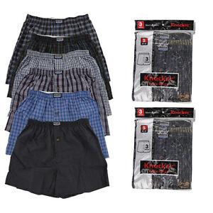 New-6-Mens-Boxers-Plaid-Shorts-Underwear-Lot-Cotton-Briefs-Pairs-Pack-Size-S-4XL