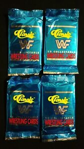 1990-Classic-WWF-WWE-Wrestling-Series-1-Trading-Card-4-Pack-Lot