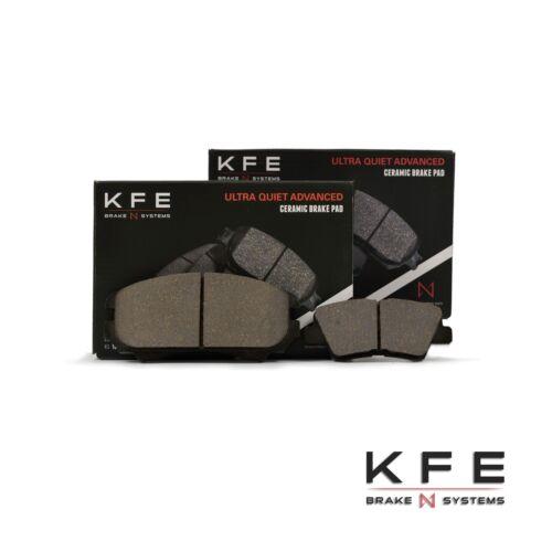 Premium Ceramic Disc Brake Pad FRONT + REAR New Set With Shims KFE924 KFE1313