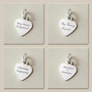 73c49e6d5bca Image is loading Tiny-Engravable-Heart-Tag-Sterling-Silver-Any-Wording-