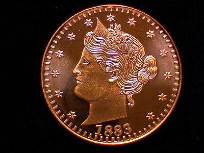 1 oz Copper Round 1883 V LIBERTY NICKEL Obverse//Reverse  #12