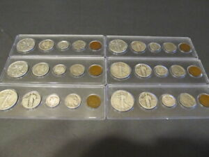 Coin Collection For Sale >> Old U S Silver Coins 5 Coin Collection Set 90 Silver Type Coins