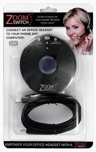Plantronics Zoom Switch ZMS10 USB Headset Switch for Phone calls, VoIP and Music