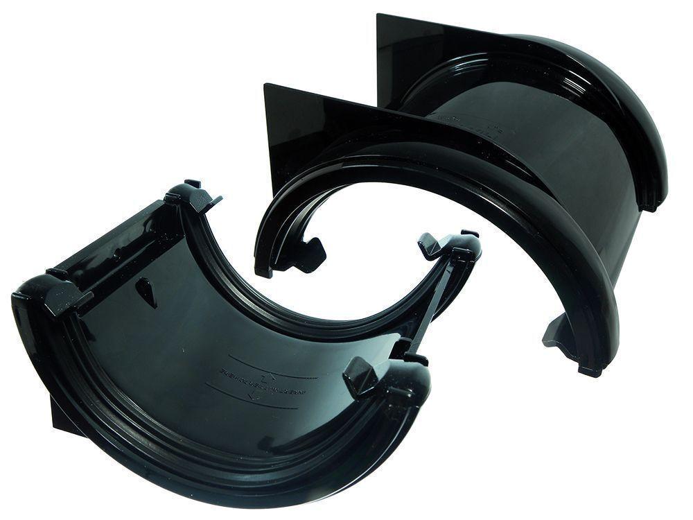 BOX 5 DI semicircolare Unione STAFFE STAFFA TUBI DI 5 SCOLO Nero 112Mm 1e32f3