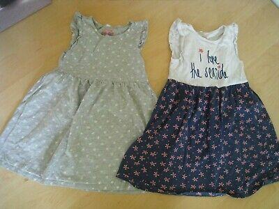 2 Bio Baumwolle Mädchen Kleider 116