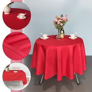 Noel-Table-Nappe-de-Noel-Salle-a-manger-Reutilisable-Rectangle-Rond-Party-Tableware