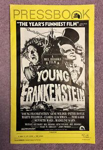 YOUNG FRANKENSTEIN ORIGINAL PRESSBOOK (1974) MEL BROOKS & GENE WILDER & MORE