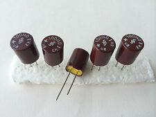 5x NOS 100uF/40V SIEMENS GPF (=ROE EK) vintage bakelite capacitors for audio