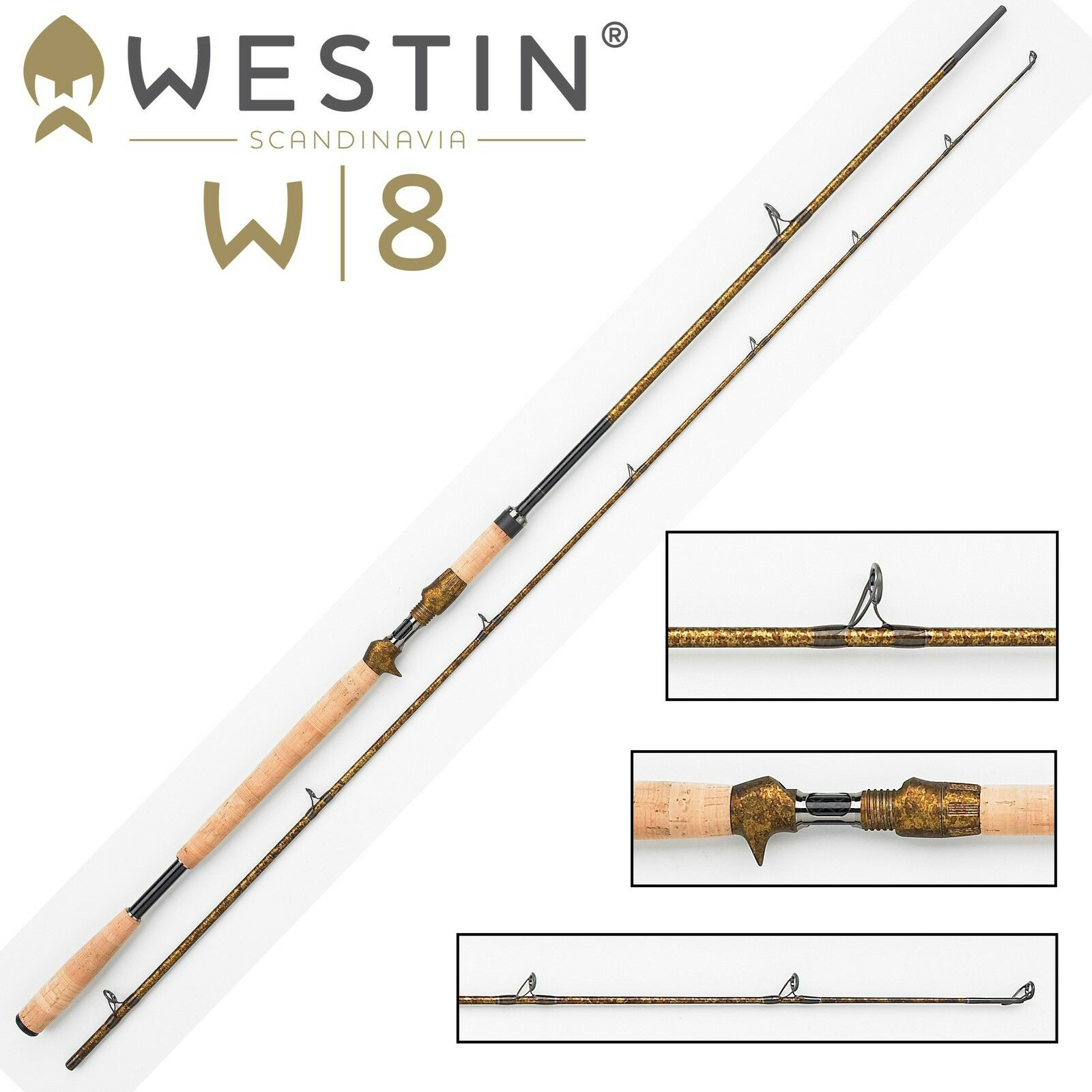 Westin W8 Powercast-T 255cm XXH 40-130g Spinnrute für Multirolle, Hechtrute