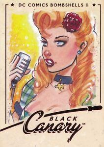 #17 BLACK CANARY 2018 Cryptozoic DC Bombshells Series 2 Patrick Finch