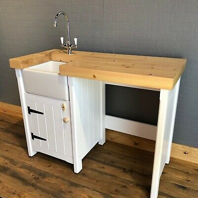 Pine Freestanding Kitchen Handmade Small Mini Baby Belfast Butler Sink Unit Ebay