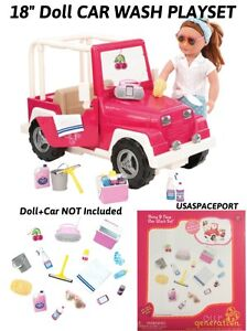 18 Quot Doll Car Wash Accessories Play Set For American Girl