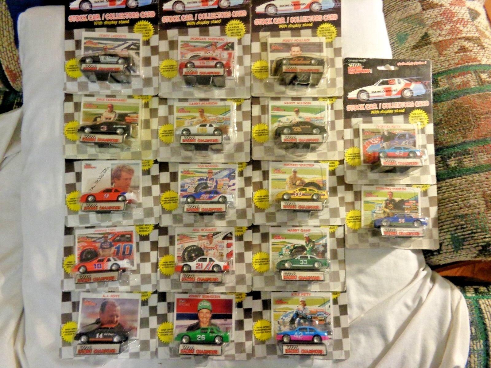 1989 Racing Champions Collectors Series 1 plastic plastic plastic tire set of 17 cars. 1713fb