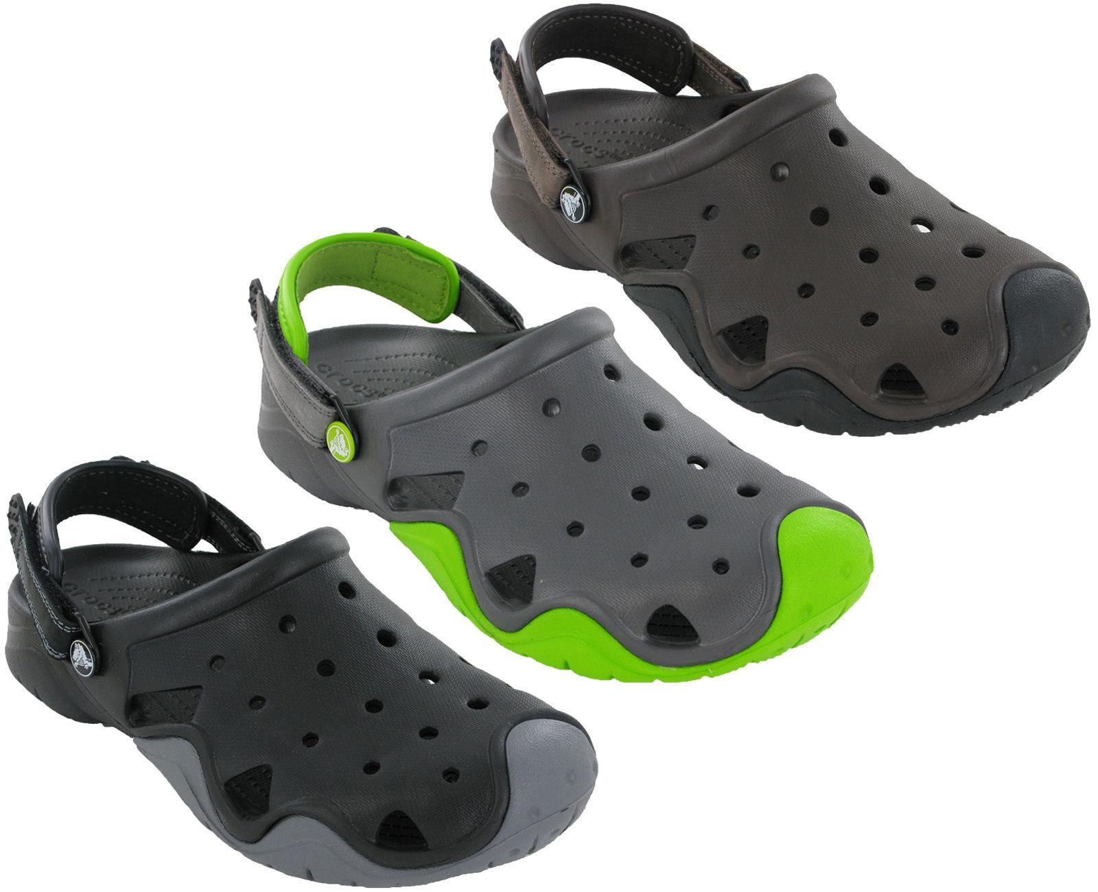 Crocs Swiftwater Clog Sandals  Adjustable Flat Strap Fastening Slip On Beach