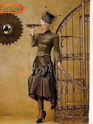 From UK Sewing Pattern Fancy Dress Steampunk Goth 14-22 #1558