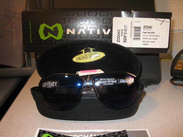 NEW IN THE BOX &  CASE NATIVE ZODIAC  SUNGLASSES BOATING CYCLING  high quaity