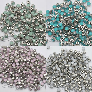 50pcs-6mm-Acrylic-Round-Opal-Faceted-Crystal-Sew-On-Rhinestones-Diamante