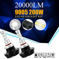 2X 200W 20000LM 9005 HB3 CREE LED Headlight Kit High Beam Fog Light Bulbs 6500K