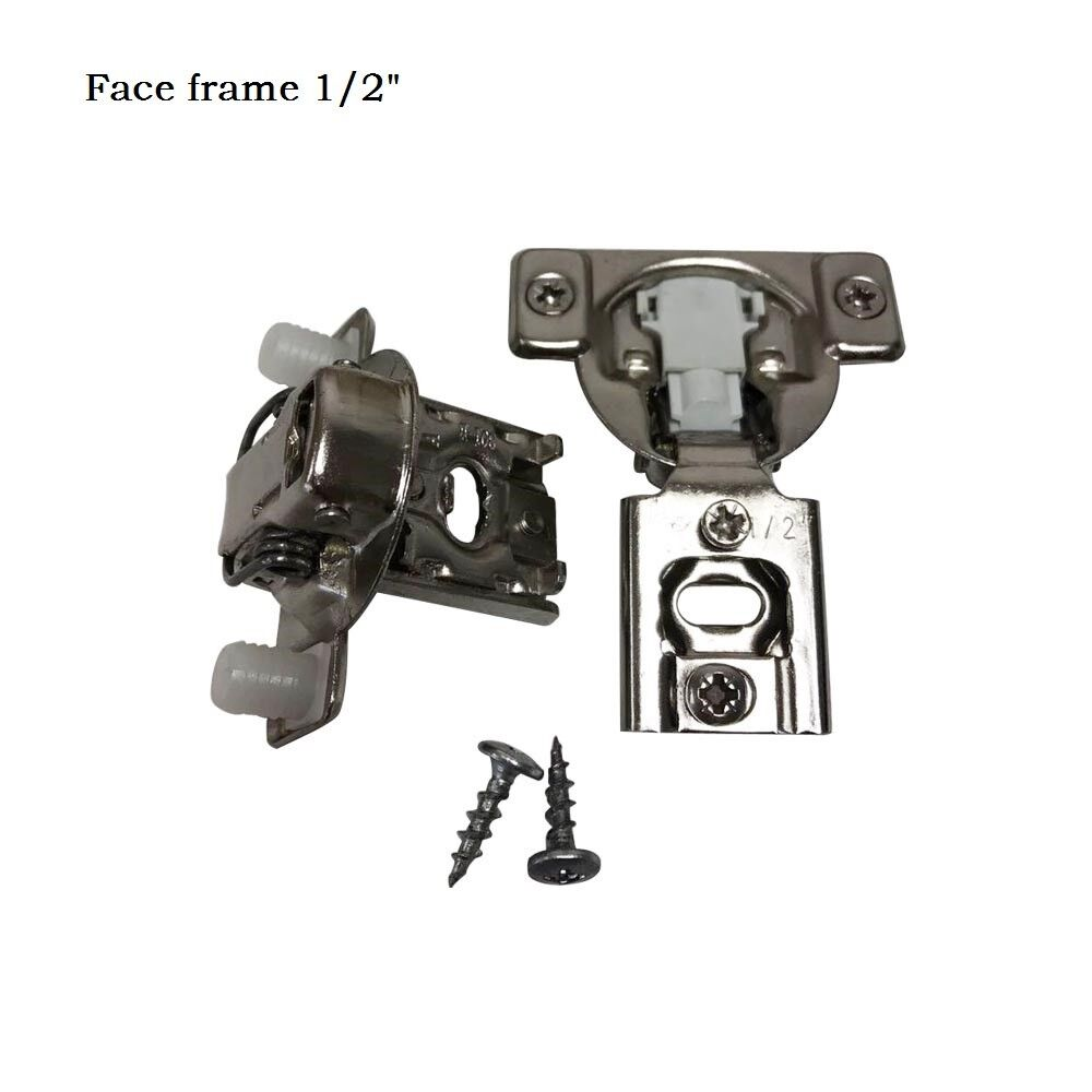 ONUS 311 Series 2D Soft Close Compact Hinge 1 2'' Full Overlay Face Frame Hinges