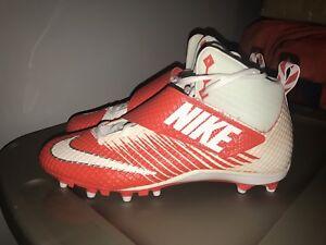 61b80f97b NEW Nike Lunarbeast Pro TD CF White Orange Football Cleats Size 13 ...
