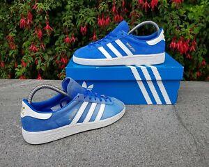 BNWB-amp-Genuine-Adidas-Originals-Munchen-Royal-Blue-Suede-Trainers-UK-Size-6