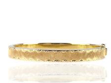 Art Deco Handarbeit 14 K 585 Gold florale Armspange Armreif 29,1 g