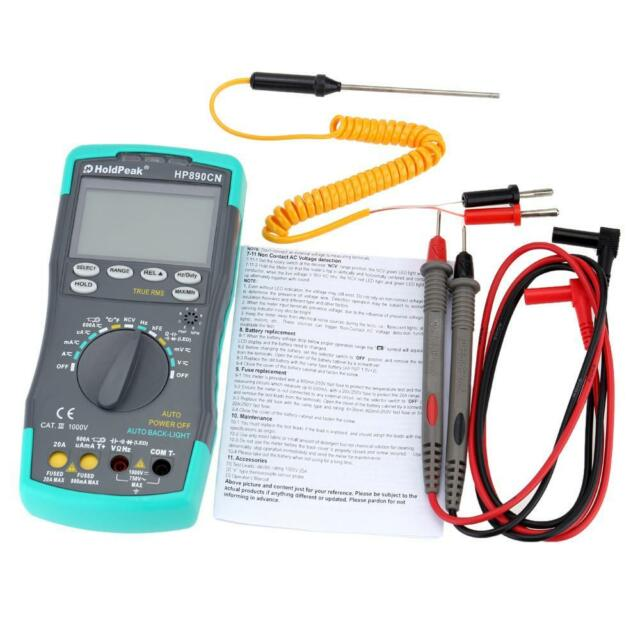 Мультиметр HoldPeak HP-890CN LCD Digital Multimeter DMM DC Voltage Current Meter