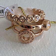NWB Coach 56418 Set of 3 Open Circle Ring Set Rose Gold Size 7