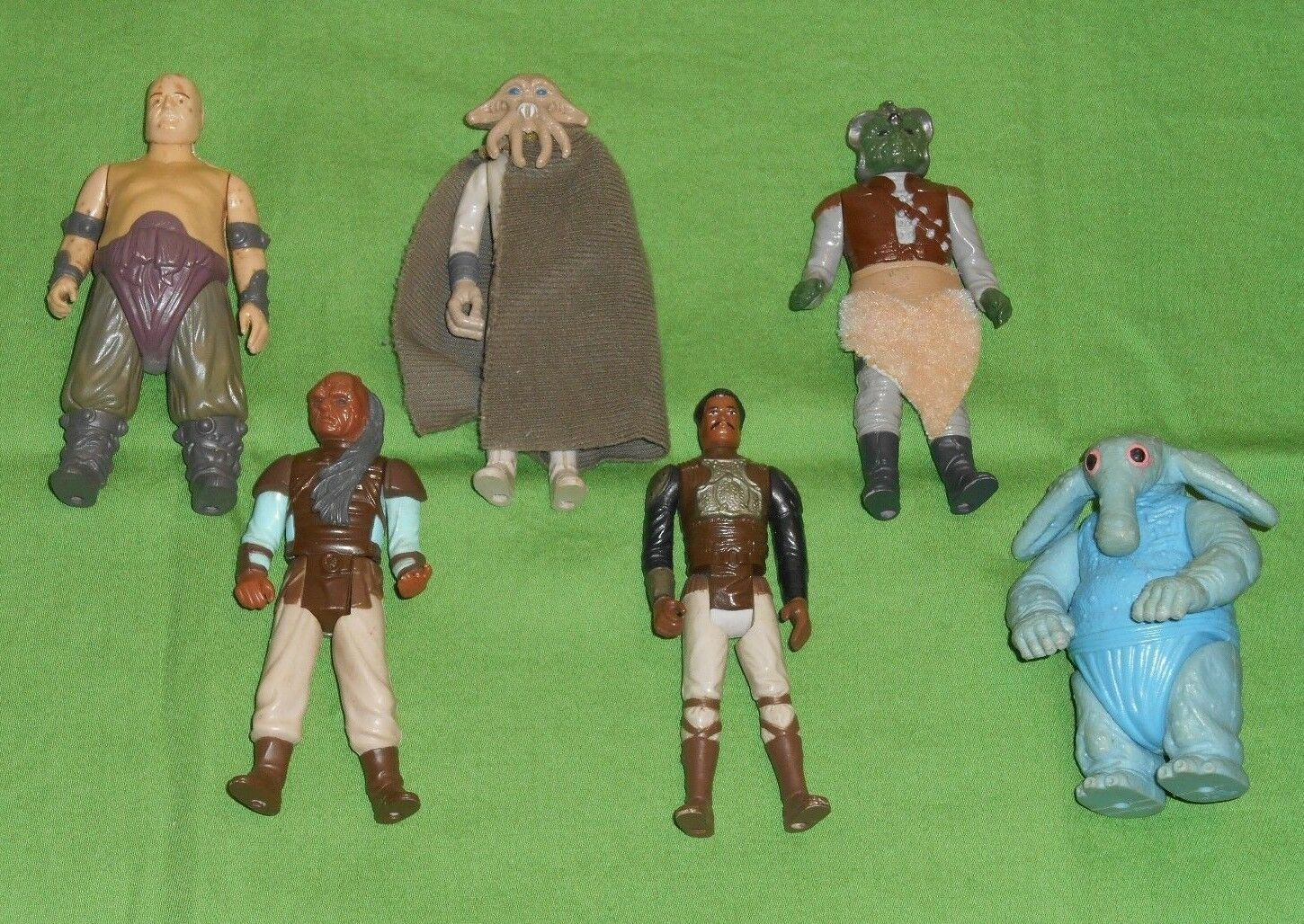 Vintage STAR WARS FIGURE LOT  111 Rancor Keeper Klaatu Lando Skiff Max Rebo +++