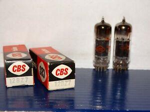 2 x 12BZ7 CBS-Hytron Tubes *Black Plates*D Getter *NOS*NIB*Super Strong*(4 pair)
