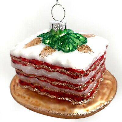 Salted Soft Pretzel Glass Christmas Tree Ornaments Brown Fake Food