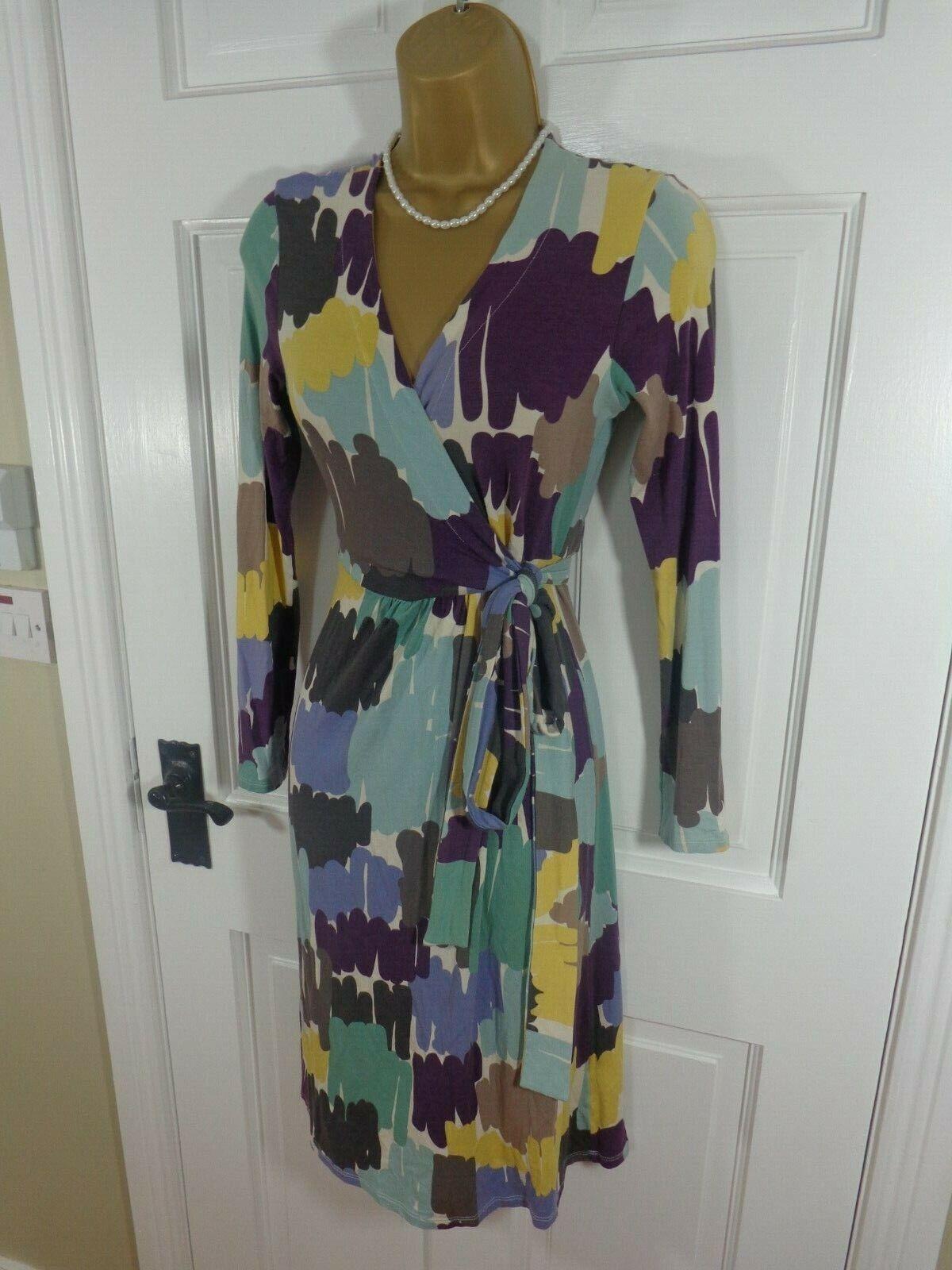Pretty Boden Multicoloured Floral Stretchy Dress, L, Perfect Condition
