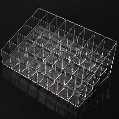 40 Trapezoid Cosmetic Makeup Display Lipstick Stand Case Organizer Holder Box LG