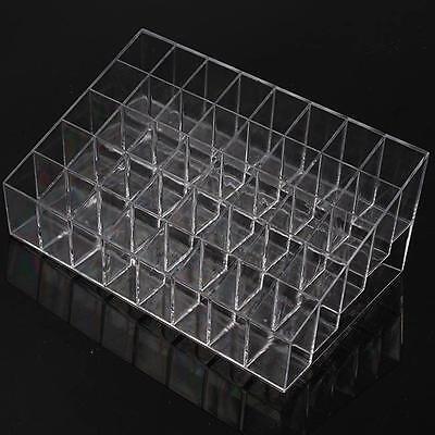 40 Trapezoid Cosmetic Makeup Display Lipstick Stand Case Organizer Holder Box LG