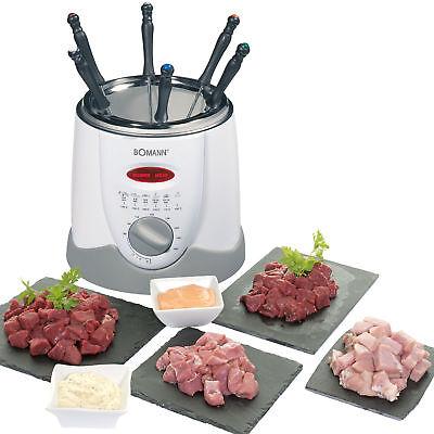 BOMANN FRR 1290 - Freidora y fondue, capacidad 1 l, 6 tenedores de fondue, 900 W