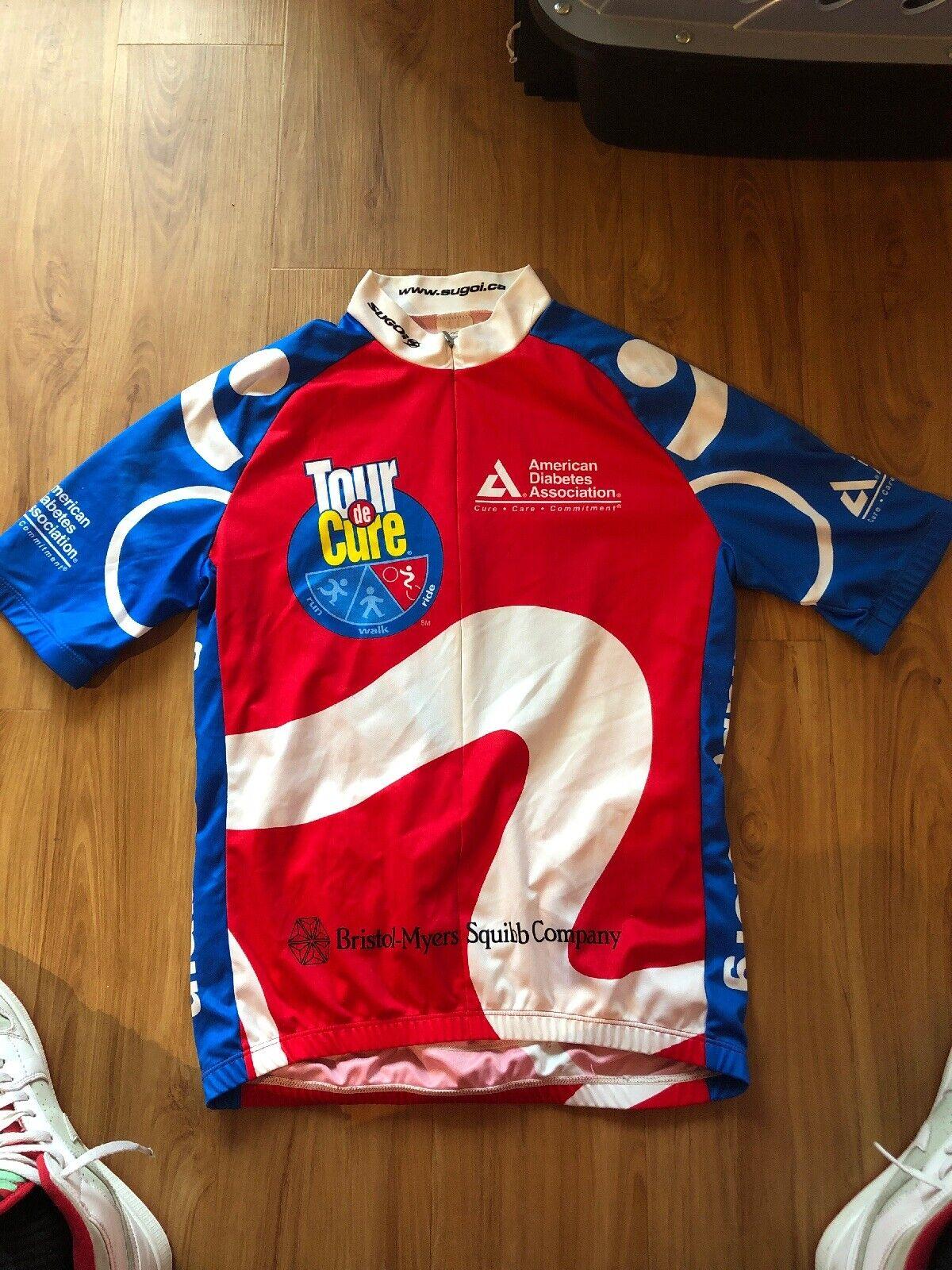 Vintage Sugoi Cycling Jersey Tour De Cure Mens Medium