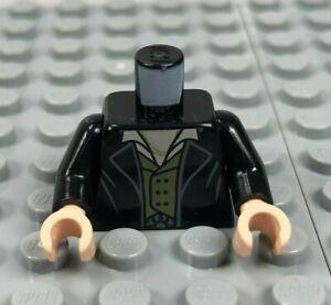 LEGO Minifigure Torso 464 LIGHT GRAY Trench Coat w Buttons Gray Vest White Shirt
