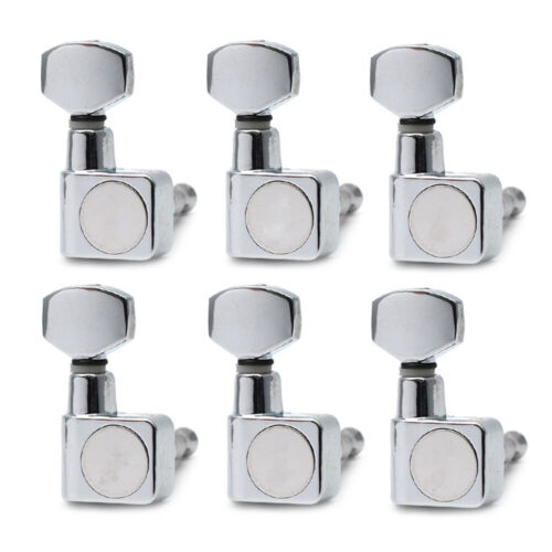 6R Chrome Guitar Locking String Tuning Pegs Key Tuner Machine Head for ST Strat